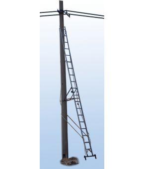 Лестница приставная наклонная стеклопластиковая изолирующая ЛПТС-5Р