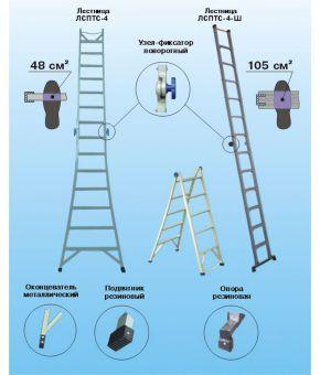 Лестница стеклопластиковая изолирующая ЛСПТС-4-3-ШС