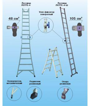 Лестница стеклопластиковая изолирующая ЛСПТС-3-3-ШС