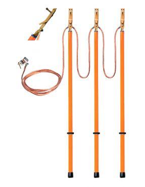 Заземление переносное для ВЛ с пружинными зажимами ЗПЛ-10 П1 3/3-25