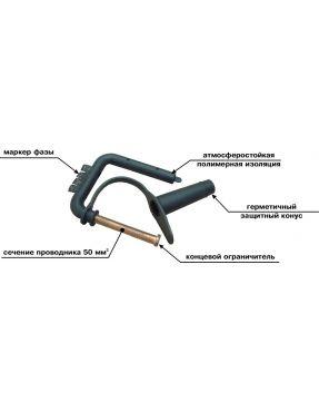 Скоба СОЗ-50 для установки заземления на линии СИП
