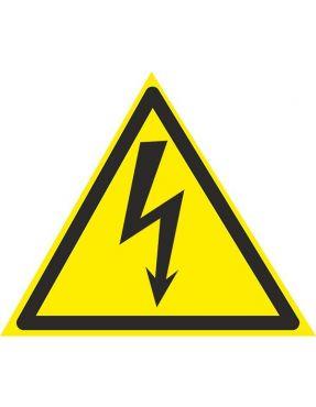 """Плакат """"Обережно! Електрична напруга."""" 160 мм ПВХ"""